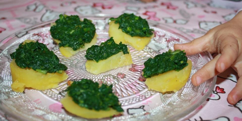 cartofi tarta spanac
