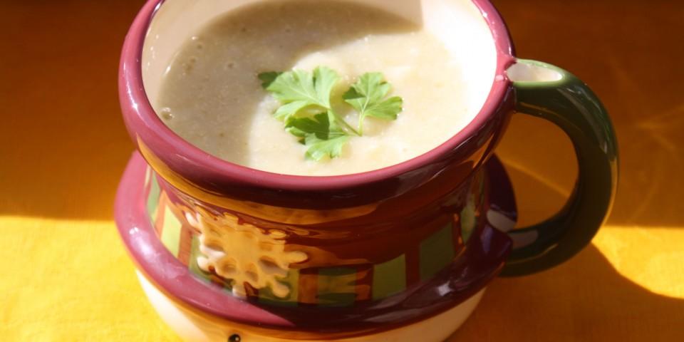 supa crema praz quinoa mei